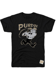 Original Retro Brand Purdue Boilermakers Black Logo Fashion Tee