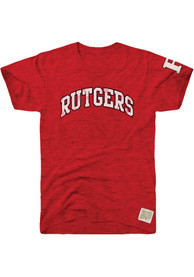Original Retro Brand Rutgers Scarlet Knights Red Arch Fashion Tee
