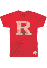 Original Retro Brand Rutgers Scarlet Knights Red Logo Fashion Tee