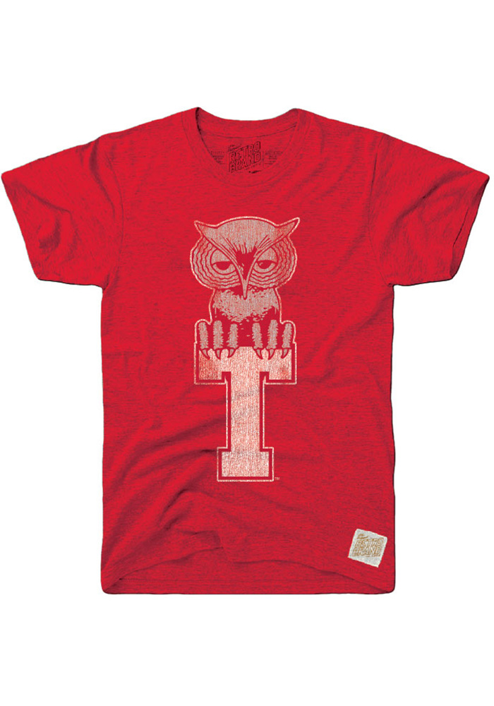 Original Retro Brand Temple Owls Red Logo Short Sleeve Fashion T Shirt - Image 1