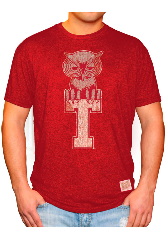 Original Retro Brand Temple Owls Red Logo Short Sleeve Fashion T Shirt - Image 2