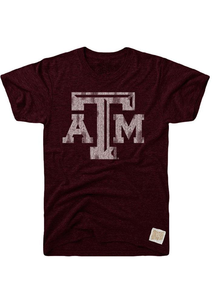 Original Retro Brand Texas A&M Aggies Maroon Logo Fashion Tee