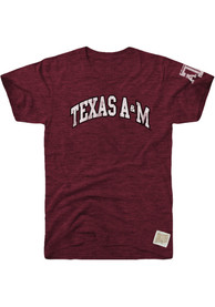 Original Retro Brand Texas A&M Aggies Maroon Arch Fashion Tee
