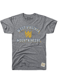 Original Retro Brand West Virginia Mountaineers Grey Team Fashion Tee
