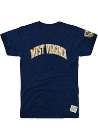 Original Retro Brand West Virginia Mountaineers Navy Blue Arch Fashion Tee