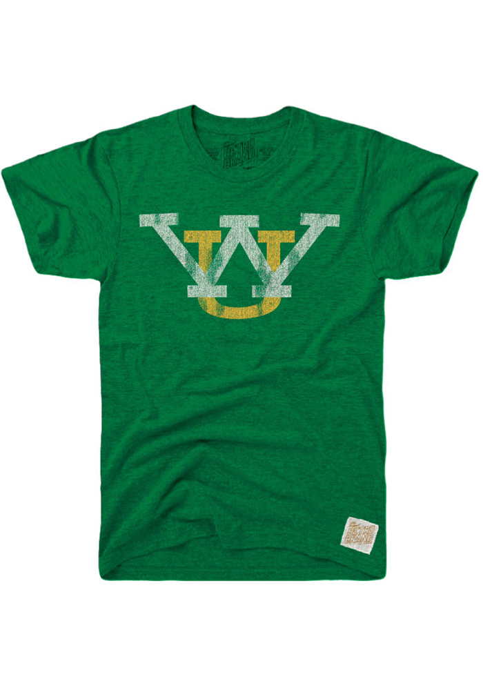 Original Retro Brand Wayne State Warriors Green Logo Short Sleeve Fashion T Shirt - Image 1