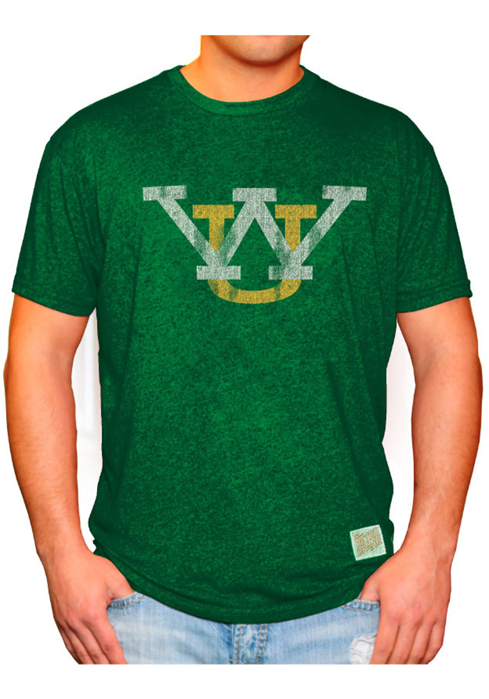 Original Retro Brand Wayne State Warriors Green Logo Short Sleeve Fashion T Shirt - Image 2