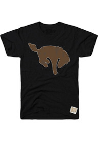 Original Retro Brand Western Michigan Broncos Black Logo Fashion Tee
