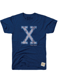 Original Retro Brand Xavier Musketeers Navy Blue Logo Fashion Tee
