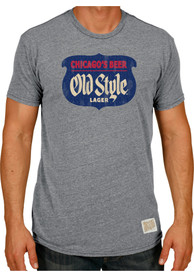 Original Retro Brand Old Style Grey Logo Short Sleeve T Shirt