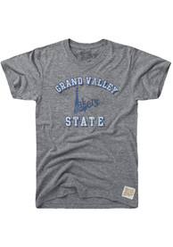 Original Retro Brand Grand Valley State Lakers Grey Number One Fashion Tee