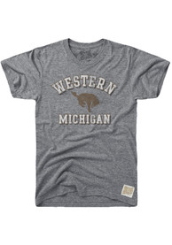 Original Retro Brand Western Michigan Broncos Grey Team Fashion Tee