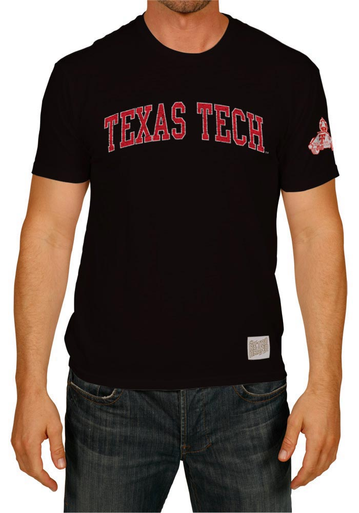 Original Retro Brand Texas Tech Red Raiders Black Arch Short Sleeve Fashion T Shirt - Image 1