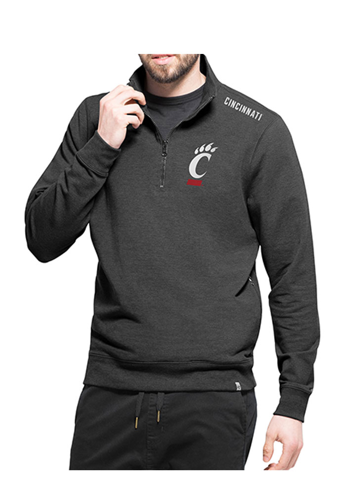 '47 Cincinnati Bearcats Mens Black Compete Long Sleeve 1/4 Zip Fashion Pullover - Image 1