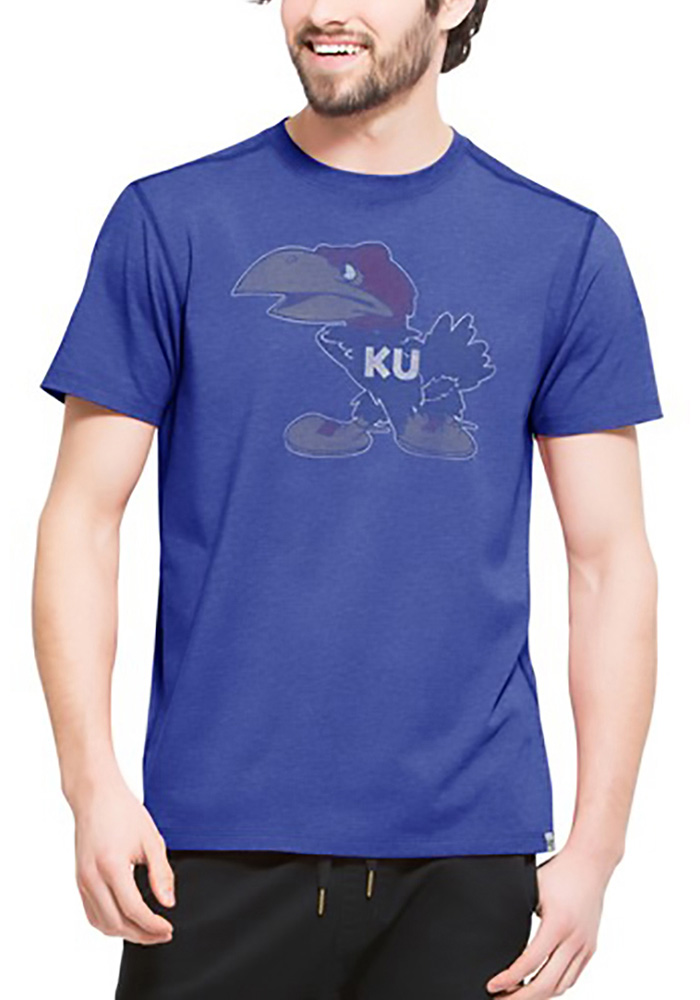 '47 Kansas Jayhawks Mens Blue Forward Short Sleeve Fashion T Shirt - Image 1