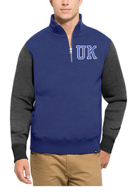 47 Kentucky Wildcats Blue Triple Coverage 1/4 Zip Fashion Pullover