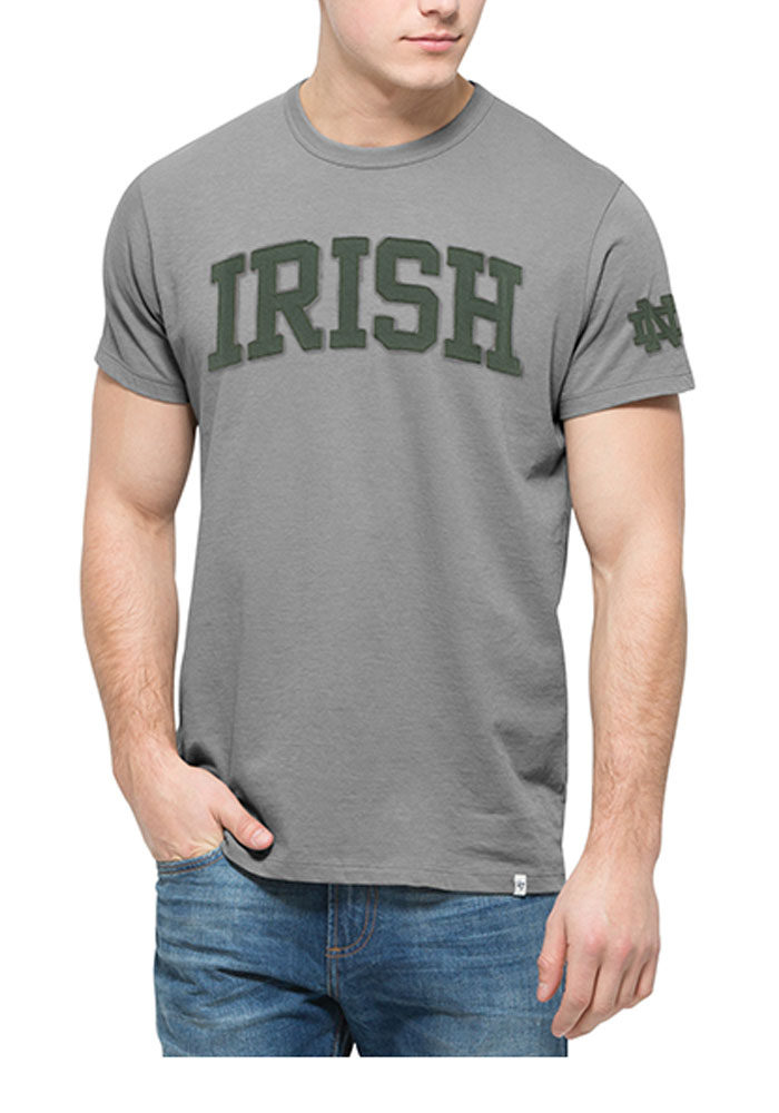 51bc7d27d 47 Notre Dame Fighting Irish Grey Fieldhouse Short Sleeve Fashion T Shirt -  Image 1