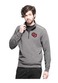 47 Oklahoma Sooners Grey Compete 1/4 Zip Fashion Pullover
