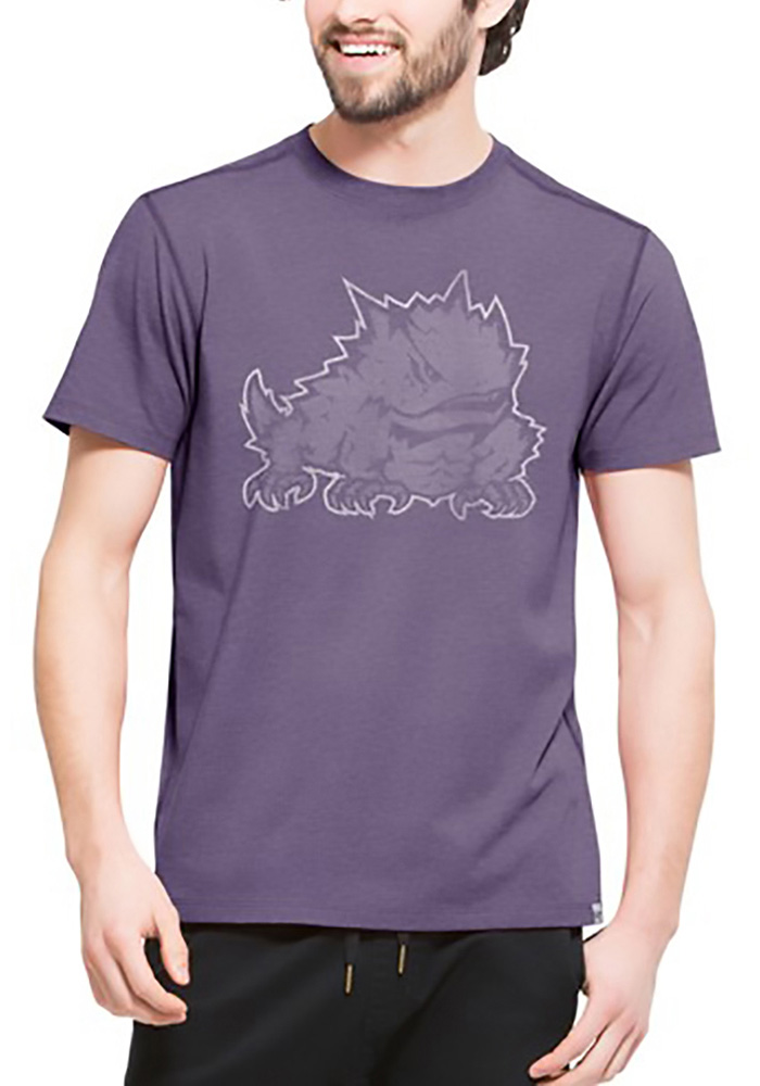 47 TCU Horned Frogs Purple Forward Short Sleeve Fashion T Shirt - Image 1