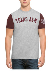 '47 Texas A&M Mens Grey Triple Up Fashion Tee