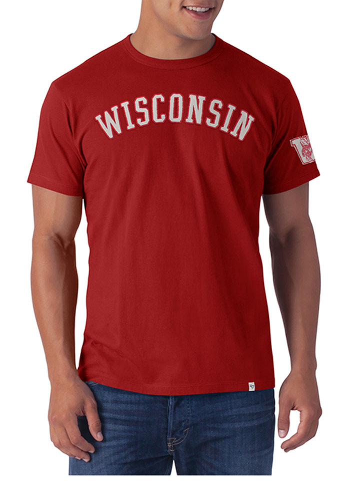 39 47 wisconsin badgers mens red fieldhouse short sleeve for Mens wisconsin badger shirts