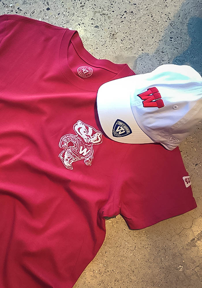 47 Wisconsin Badgers Red Fieldhouse Short Sleeve Fashion T Shirt - Image 2