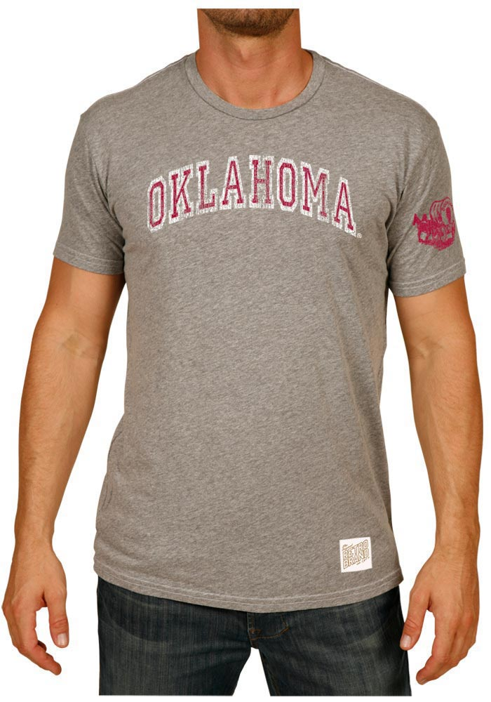 Original Retro Brand Oklahoma Sooners Grey Arch Fashion Tee