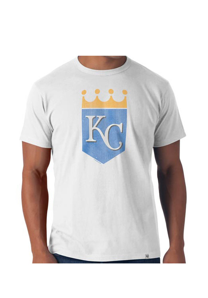 '47 Kansas City Royals Mens White Flanker Short Sleeve Fashion T Shirt - Image 1