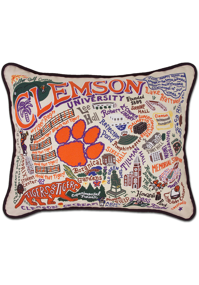 Clemson Tigers 16x20 Embroidered Pillow - Image 1