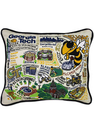 GA Tech Yellow Jackets 16x20 Embroidered Pillow