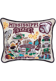 Mississippi State Bulldogs 16x20 Embroidered Pillow