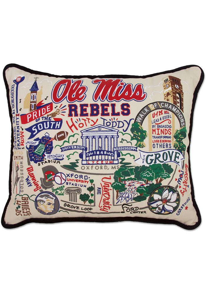 Ole Miss Rebels 16x20 Embroidered Pillow - Image 1