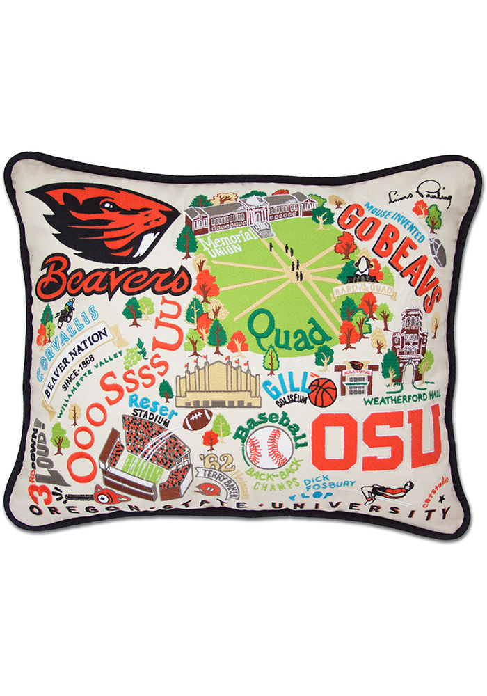 Oregon State Beavers 16x20 Embroidered Pillow - Image 1