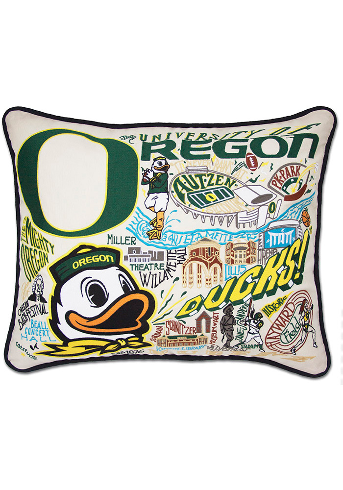 Oregon Ducks 16x20 Embroidered Pillow - Image 1