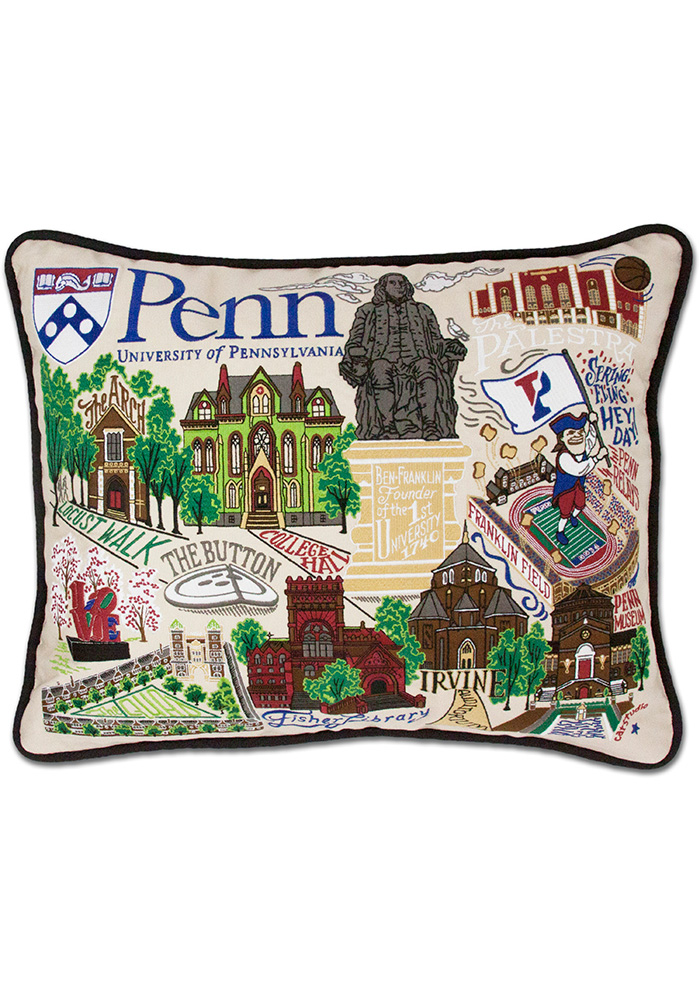 Pennsylvania Quakers 16x20 Embroidered Pillow - Image 1