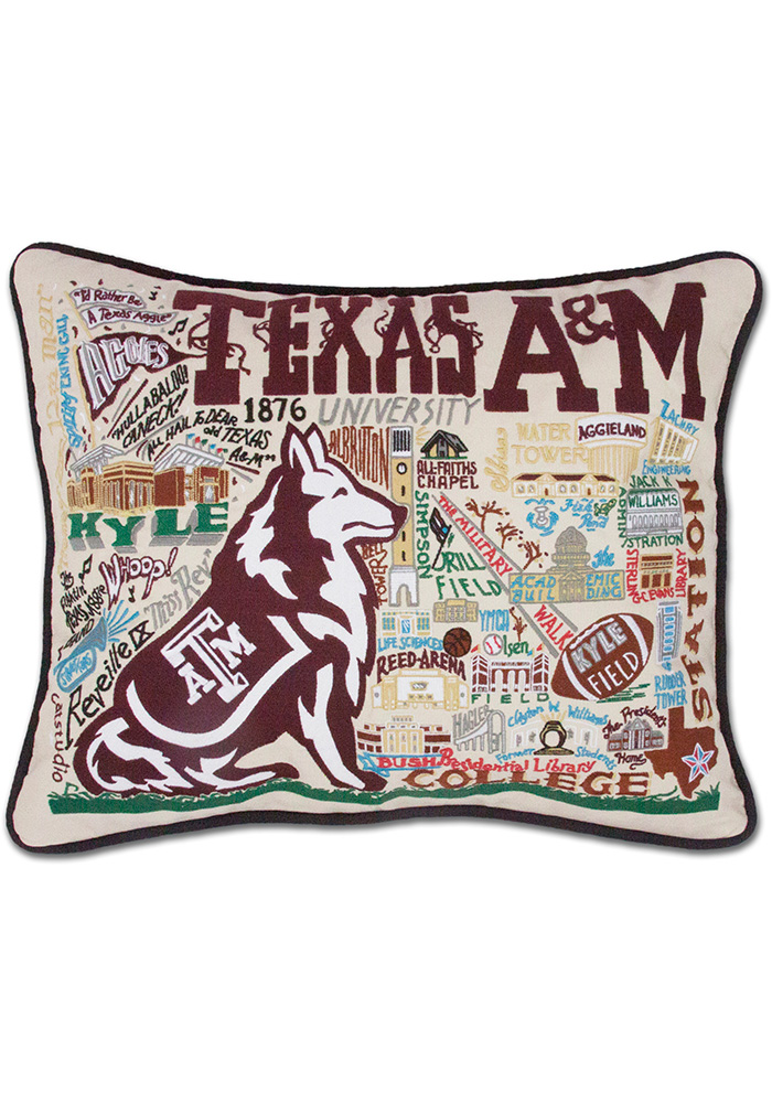 Texas A&M Aggies 16x20 Embroidered Pillow - Image 1