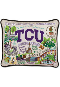 TCU Horned Frogs 16x20 Embroidered Pillow
