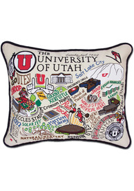 Utah Utes 16x20 Embroidered Pillow