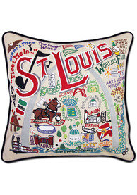 St Louis 20x20 Embroidered Pillow