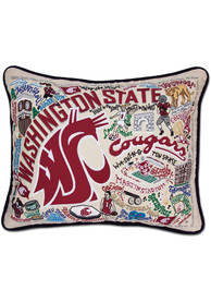 Washington State Cougars 16x20 Embroidered Pillow