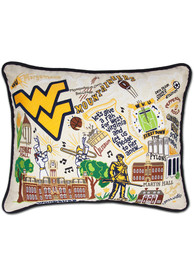 West Virginia Mountaineers 16x20 Embroidered Pillow