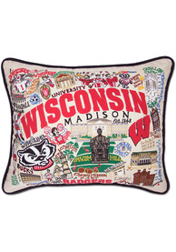 Wisconsin Badgers 16x20 Embroidered Pillow