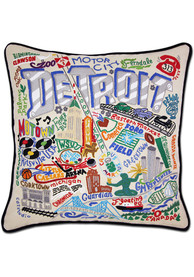 Detroit 20x20 Embroidered Pillow