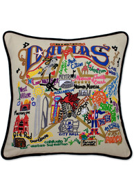 Dallas Ft Worth 20x20 Embroidered Pillow