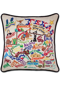 Texas 20x20 Embroidered Pillow