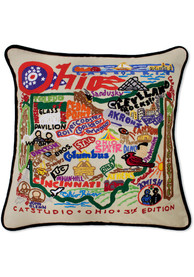 Ohio 20x20 Embroidered Pillow