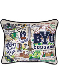 BYU Cougars 16x20 Embroidered Pillow