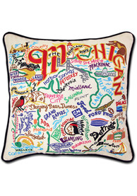 Michigan 20x20 Embroidered Pillow
