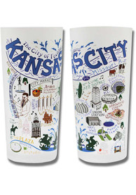 Kansas City Illustrated Frosted Pint Glass