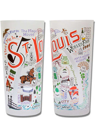 St Louis Illustrated Frosted Pint Glass